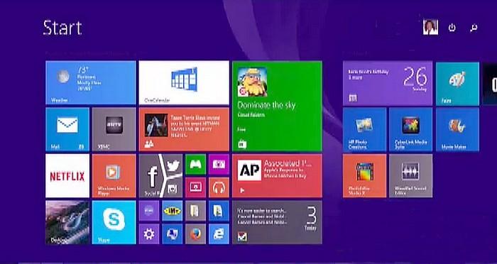 IE Modern UI Open from Start Screen.