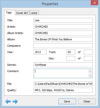 Winyl-ID3-Tags