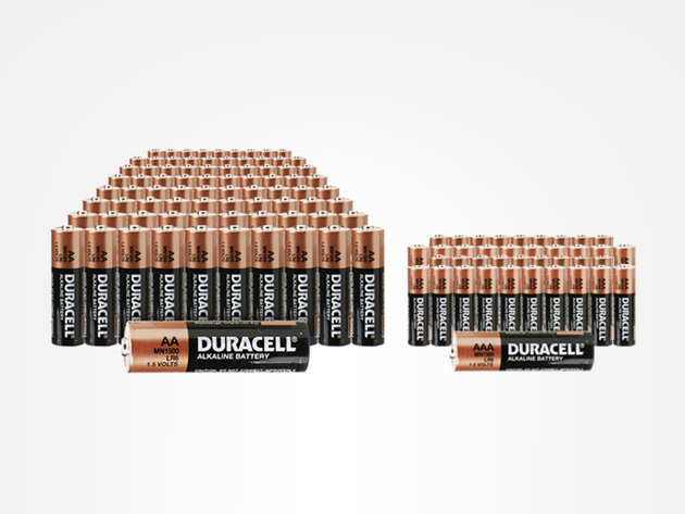 Trusted Everywhere: 100 AA & 52 AAA Duracell Batteries on StackSocial