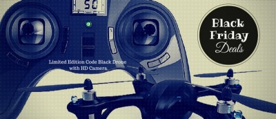 Black Friday Deals: Including the Limited Edition Code Black Drone with HD Camera