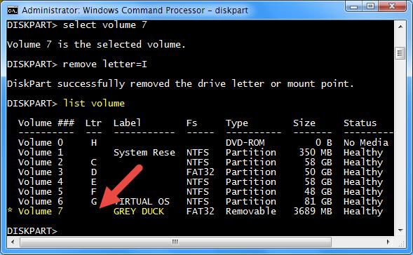 diskpart-letter-removed