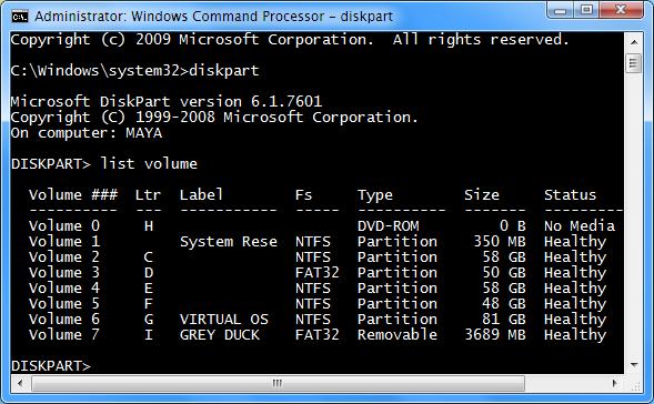 diskpart-list-volume