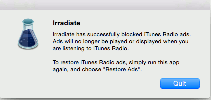 irradiate-block-ads-successfully