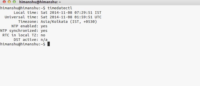Use timedatectl to Control System Time and Date in Linux