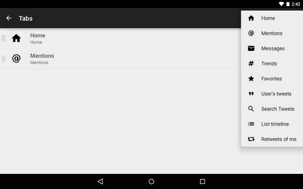AndroidTwitterClients-Twidere-Tabs