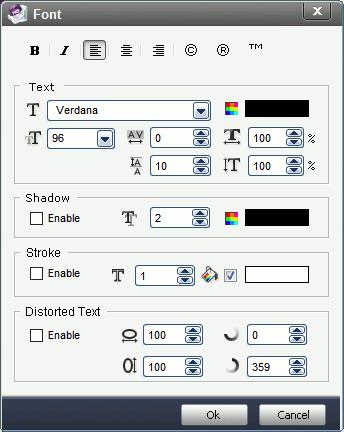 aoao-video-watermark-font-settings