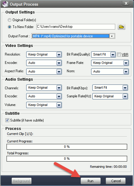 aoao-video-watermark-output-settings