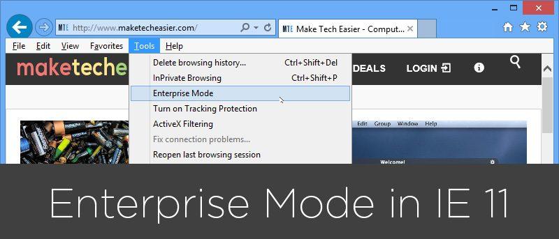 How to Enable Enterprise Mode in Internet Explorer 11 - Make