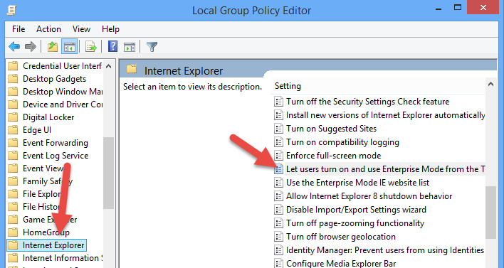 enterprise-mode-group-policy-setting