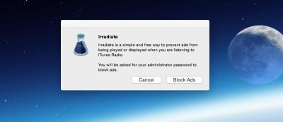 Irradiate – Block iTunes Radio Advertisements on Mac and iOS for Free
