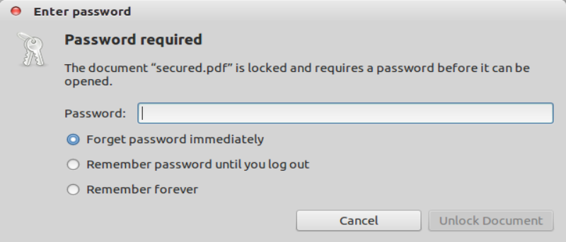 How to Remove Password Protection from PDF in Ubuntu