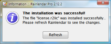 rainlendar-lincense-installed