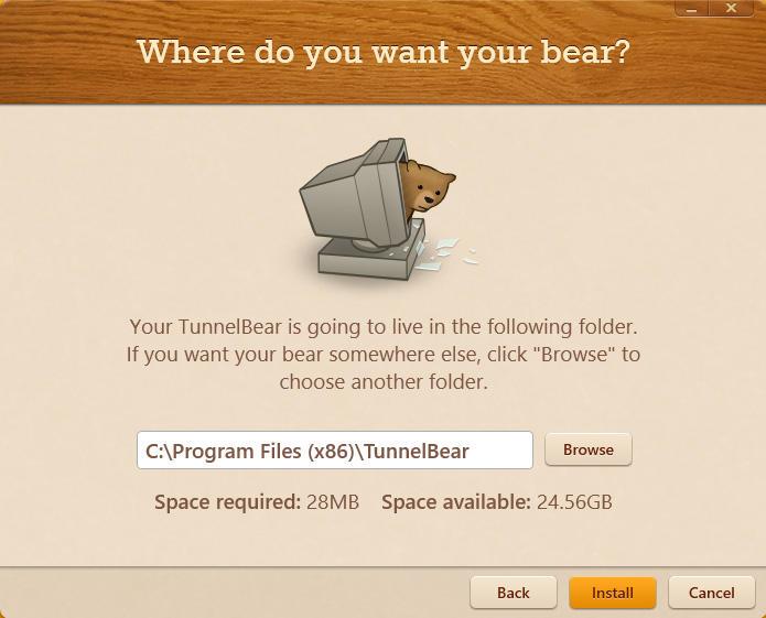 tunnelbear-installation