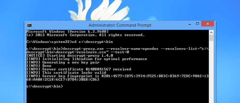 How to Encrypt DNS Traffic in Windows with DNSCrypt