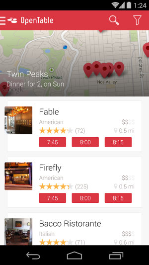 AndroidFindRestaurant-OpenTable