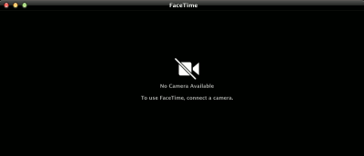 """Fix """"No Camera Available"""" Issue in Mac OS X"""
