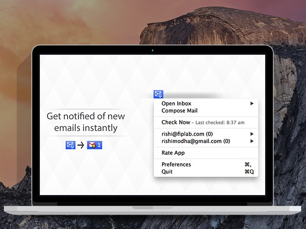 Alerts for Gmail: Real-Time Email Alerts Right On Your Menu Bar