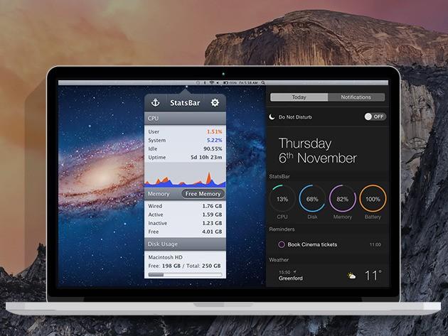 StatsBar: Monitor Your Mac's Health & Performance Efficiency