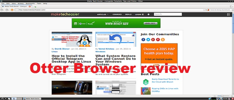 Otter Browser – A QT-Based Browser with Classic Opera UI