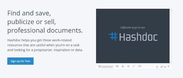 Hashdoc - Find and save, publicize or sell, professional documents.