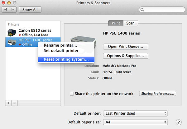 How to Reset Printers on Your Mac - Make Tech Easier