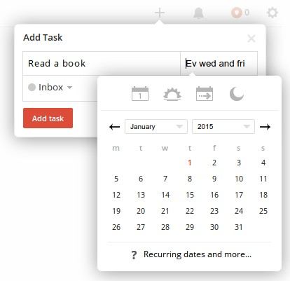 Todoist makes adding tasks easy.
