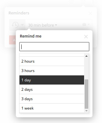 Setting reminders in Todoist is super easy.