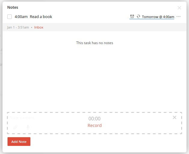 Keep organized by adding notes, files and audio to your Todoist tasks.