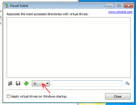 vsubst-select-drive-letter