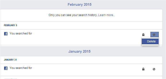 Search History on Facebook_Delete one search