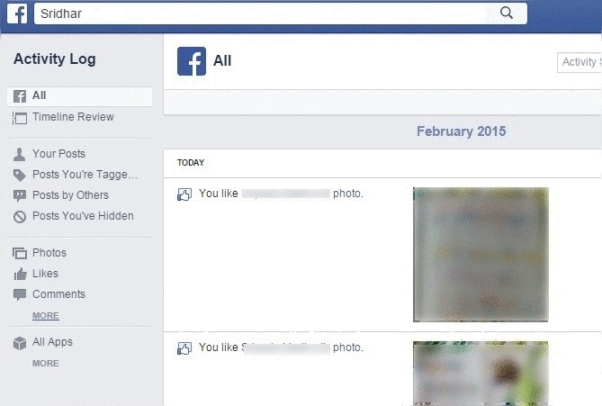 Search History on Facebook_More