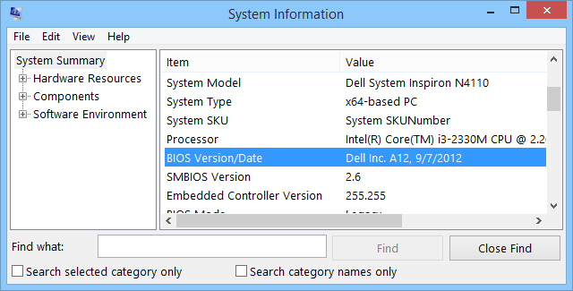 4 Ways To Get BIOS Version Information in Windows - Make