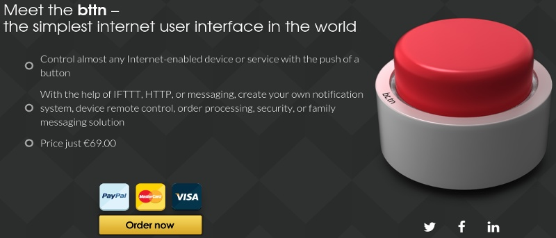 Bttn: Control Internet-Enabled Devices and Web Services with a Single Button – Review & Giveaway