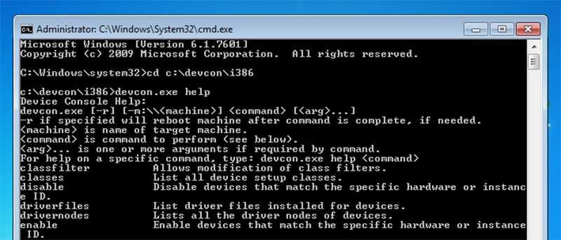 DEVCON INSTALL DEVICE DRIVERS FOR WINDOWS VISTA