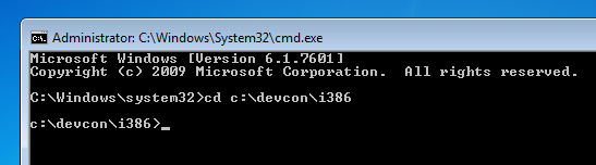 DRIVERS UPDATE: DEVCON INSTALL DEVICE