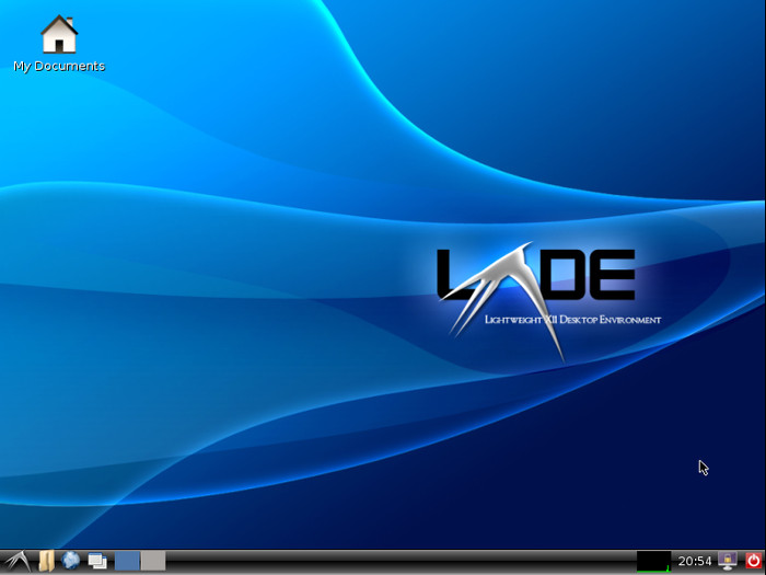 The LXDE desktop environment.