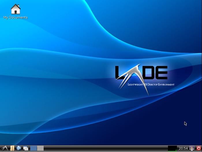 The LXDE desktop environment.