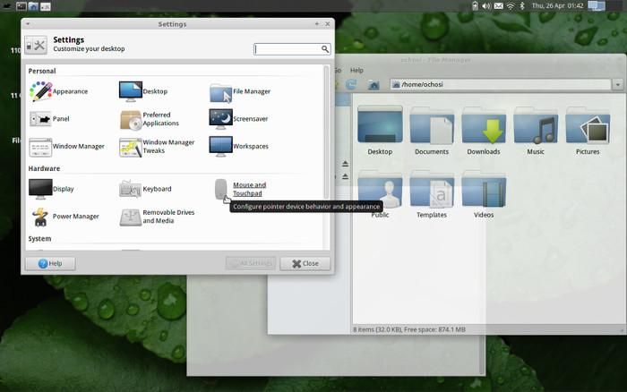 XFCE4 desktop environment.