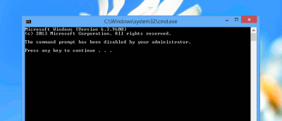 How to Disable Command Prompt in Windows