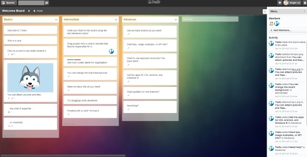 Trello Clear: Clear and light redesigned interface.