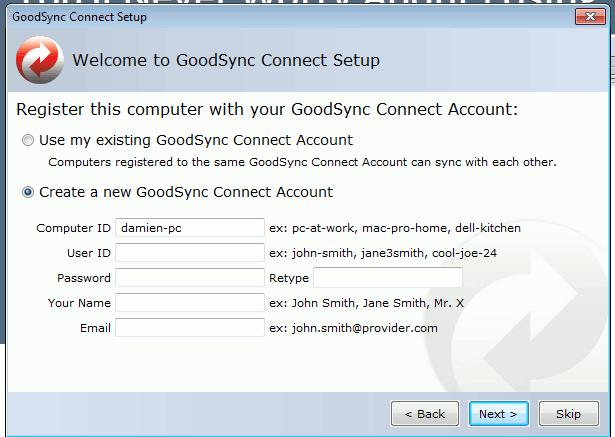 goodsync-create-user-account