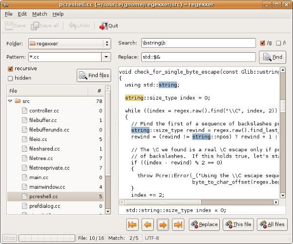 grep-tools-regexxer