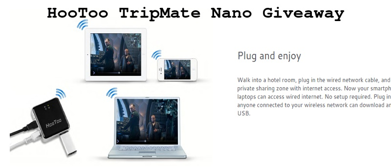 HooToo TripMate Nano: Pocket Travel Router and Media Sharing Center - Review & Giveaway