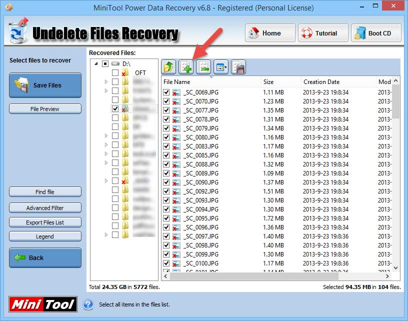power-data-recovery-select-files