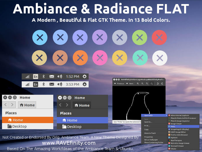 Ambiance & Radiance Flat Colors Mate theme