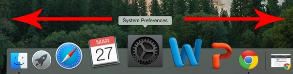 Rearrange apps on the OS X dock.