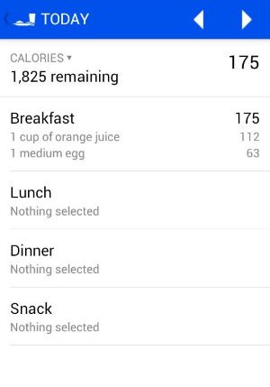 Food Journal Android app.
