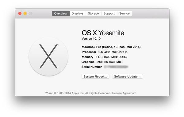 You'll see your Mac's basic identifier.