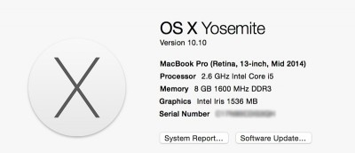 Check Your Mac's Version In OS X