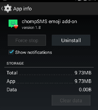 Uninstall an Android app.